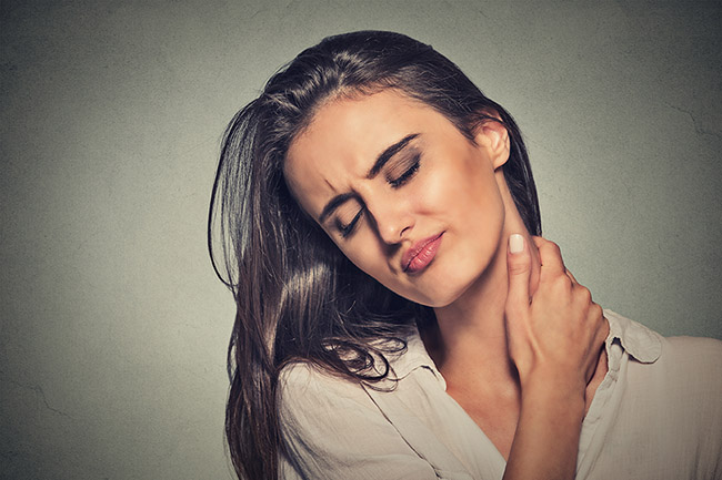 Whiplash after an auto accident starts with neck pain.